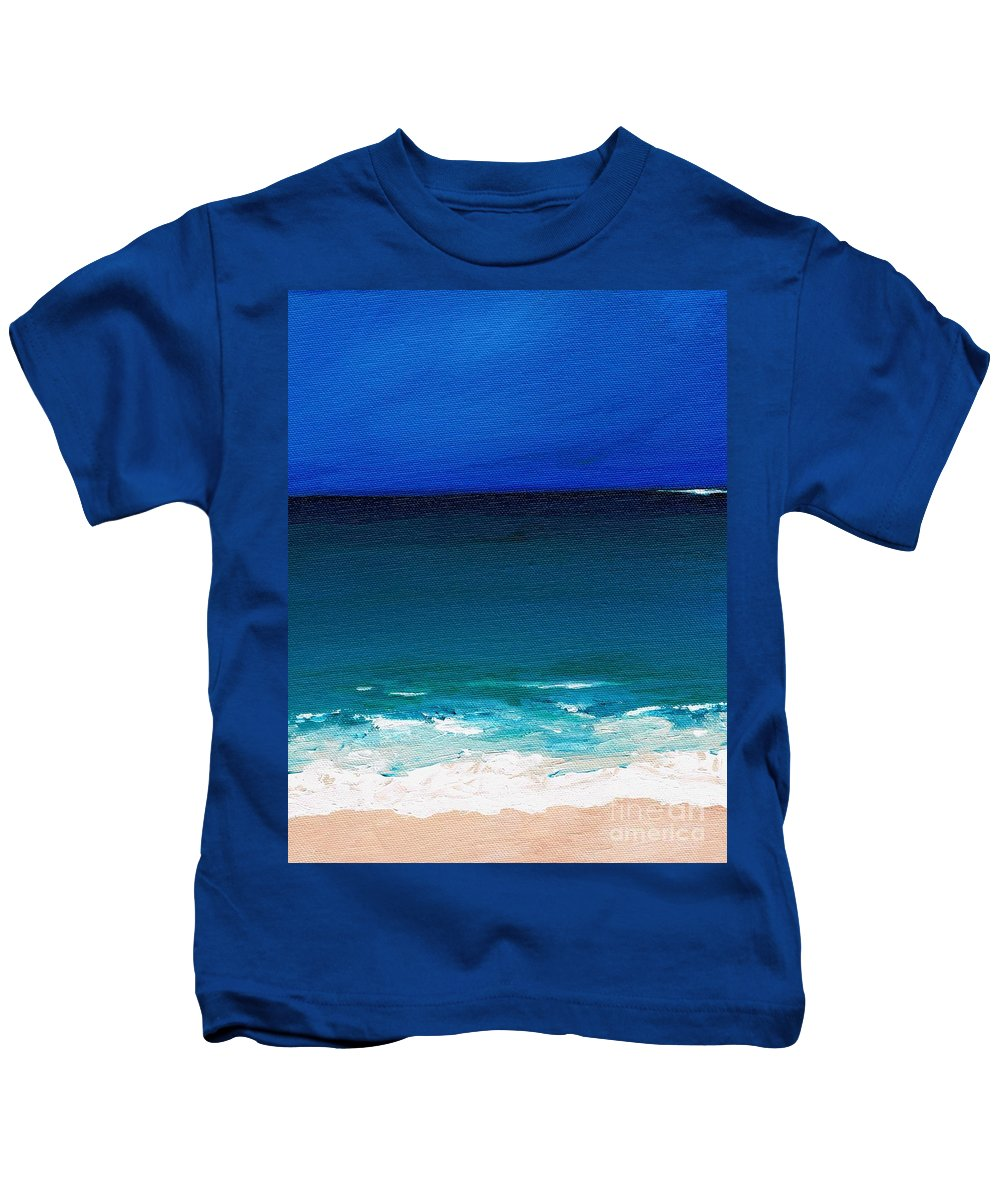 Seashore Kids T-Shirt featuring the painting The Tide Coming In by Frances Marino