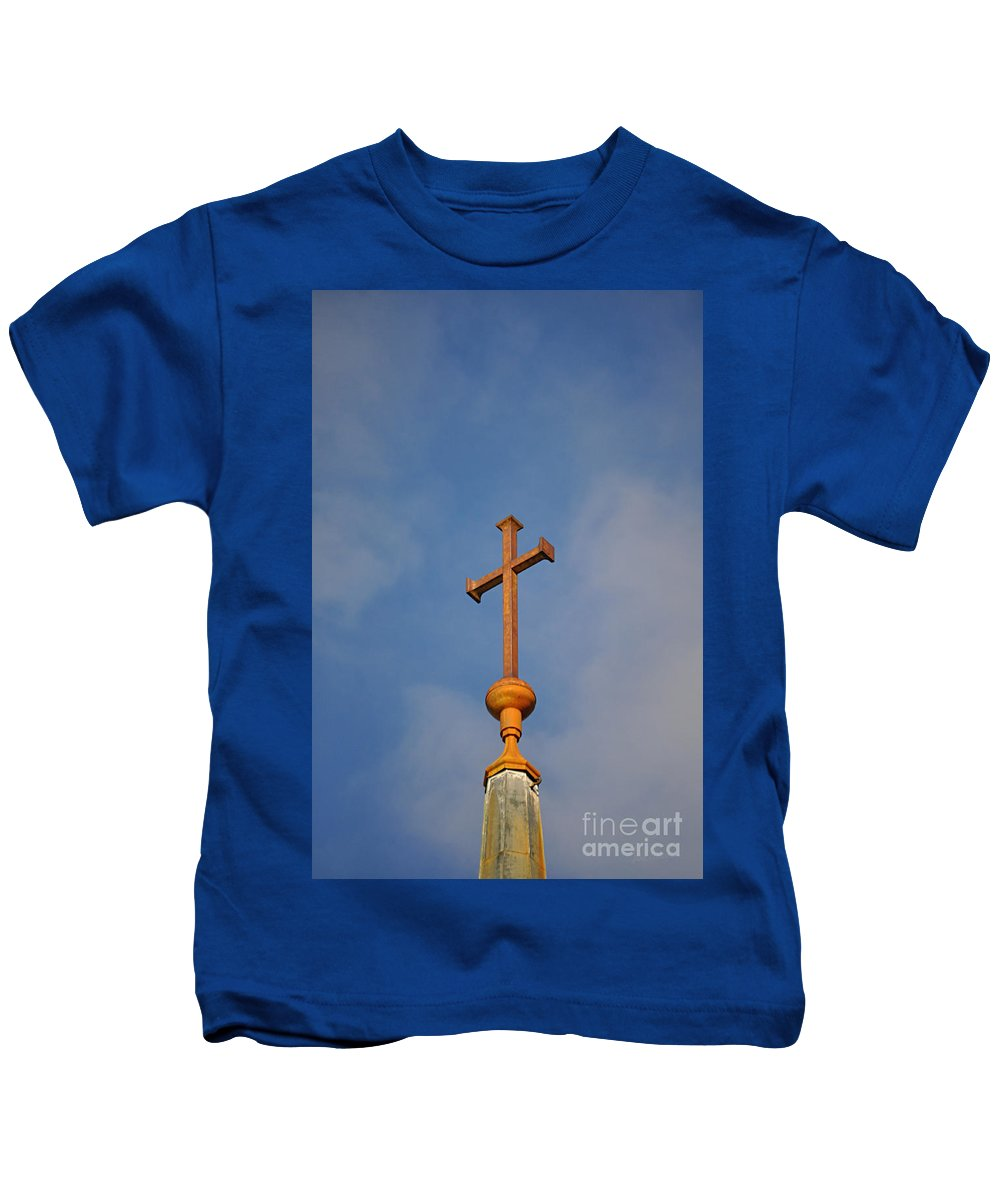 Cross Kids T-Shirt featuring the photograph To Reach... by Luke Moore