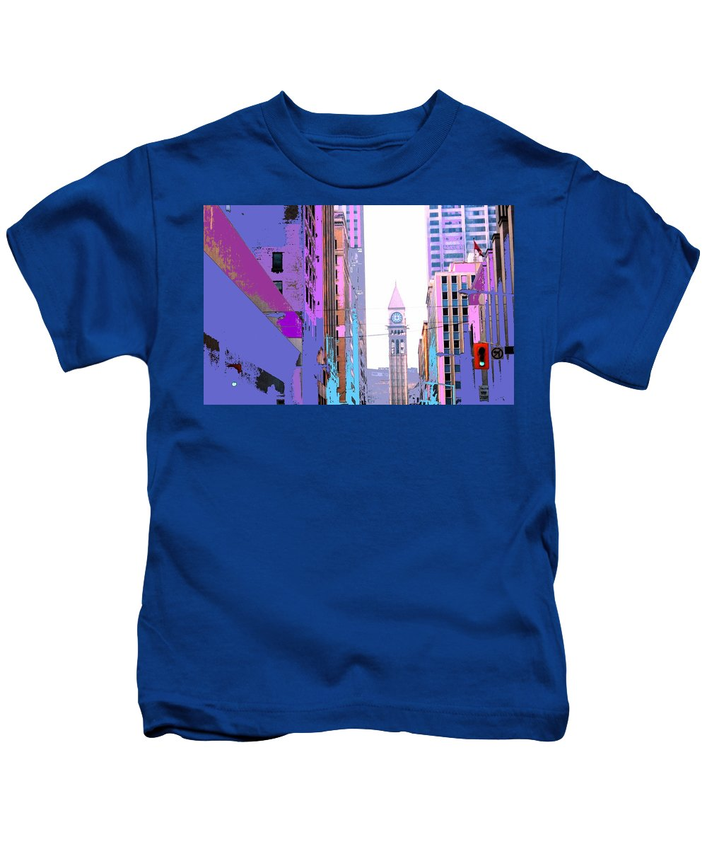 Bay Kids T-Shirt featuring the photograph Toronto Old City Hall by Ian MacDonald