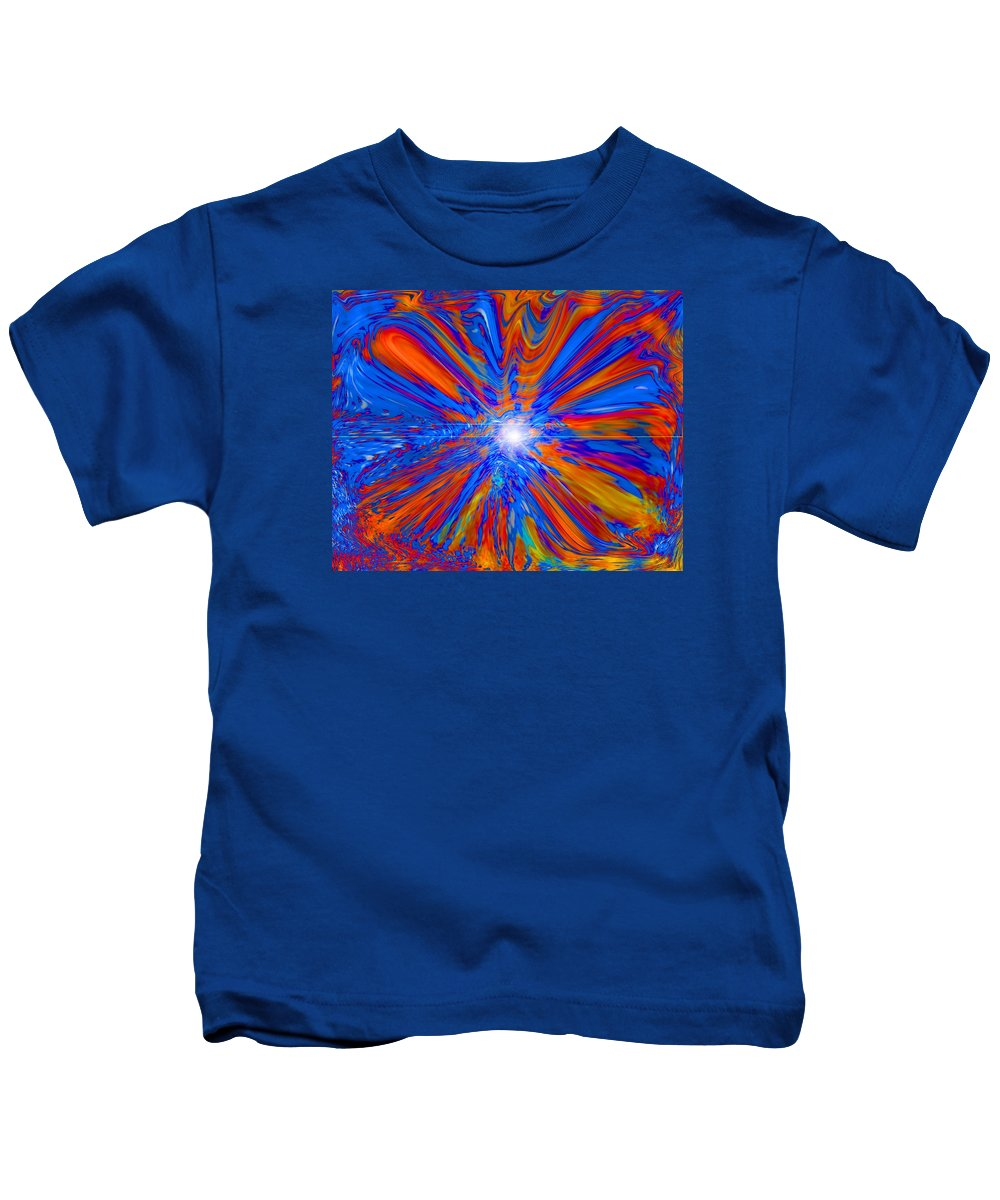 Blue Kids T-Shirt featuring the painting Transformed by Pastor Matthew Brown