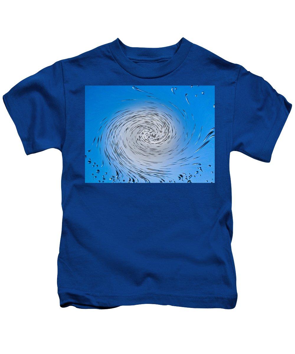 Water Kids T-Shirt featuring the digital art Two Tone Vortex by David Pyatt