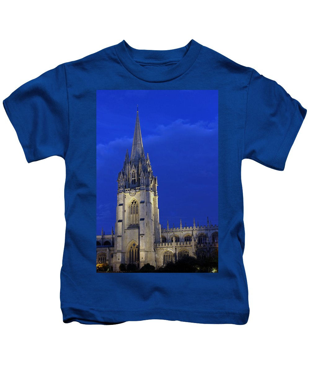 University Church Of St Mary The Virgin Kids T-Shirt featuring the photograph University Church Of St Mary The Virgin by Tony Murtagh
