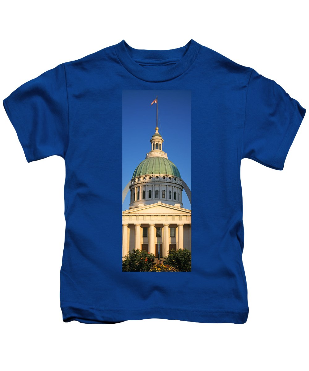Photography Kids T-Shirt featuring the photograph Us, Missouri, St. Louis, Courthouse by Panoramic Images