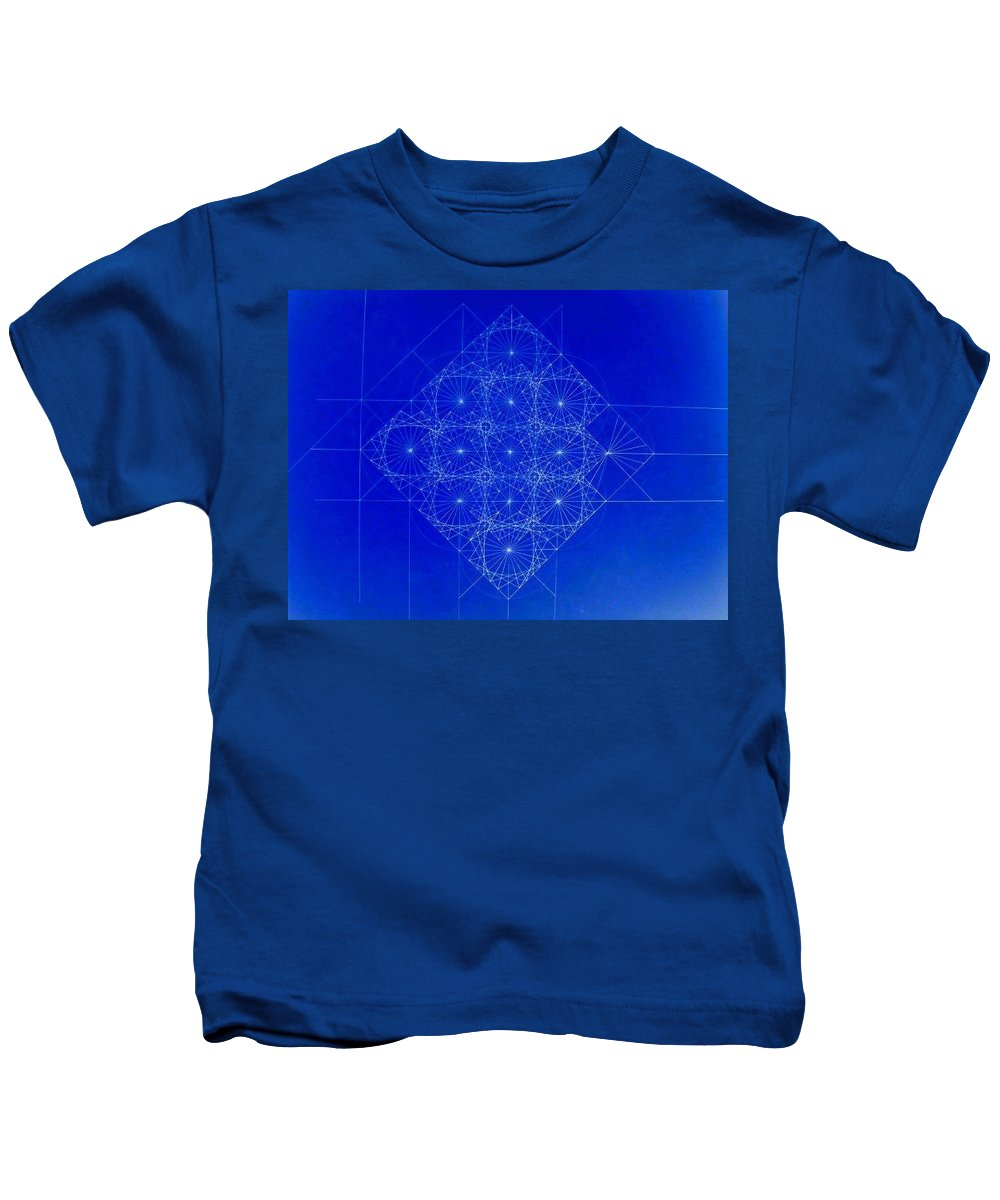 Sine Kids T-Shirt featuring the drawing Vibrating Space Time by Jason Padgett