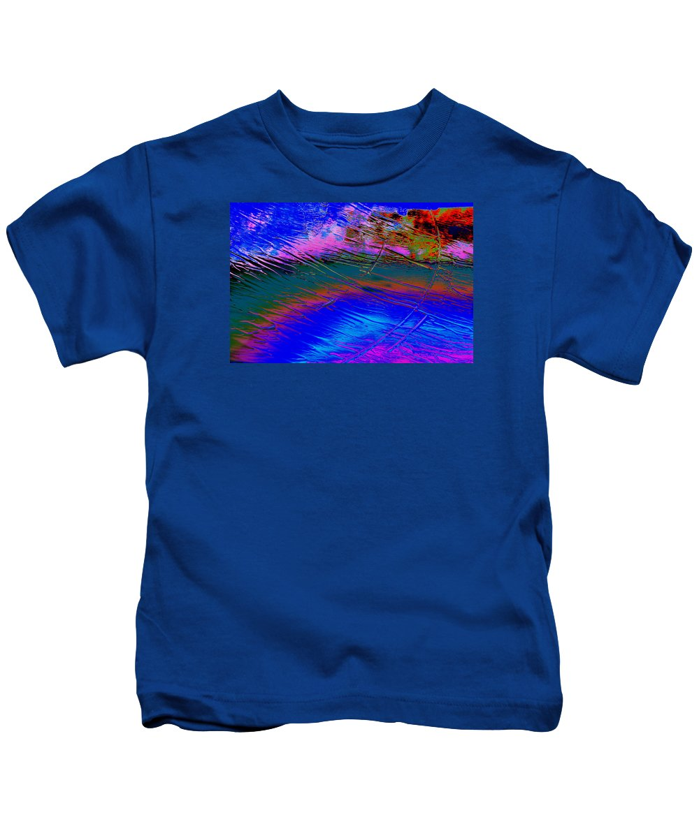 View Of A Rain Storm 2 Abstract Modern Contemporary Water Rainning Kids T-Shirt featuring the photograph View Of A Rain Storm 2 by Clive Beake