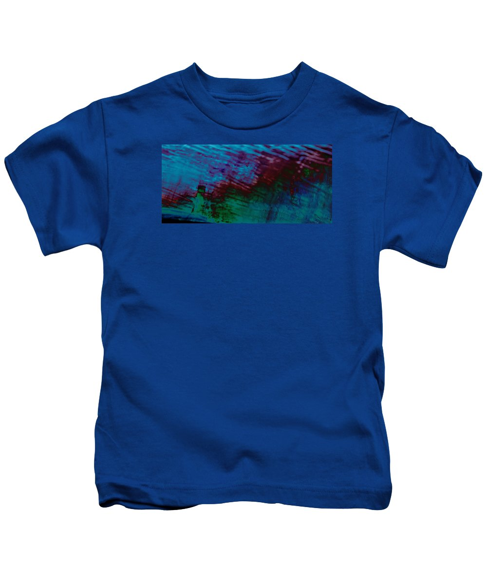 View Of A Rain Storm Beautiful Abstract Landscape . Modern .contemporary Water Raining So Wet Kids T-Shirt featuring the photograph View From In A Rain Storm by Clive Beake
