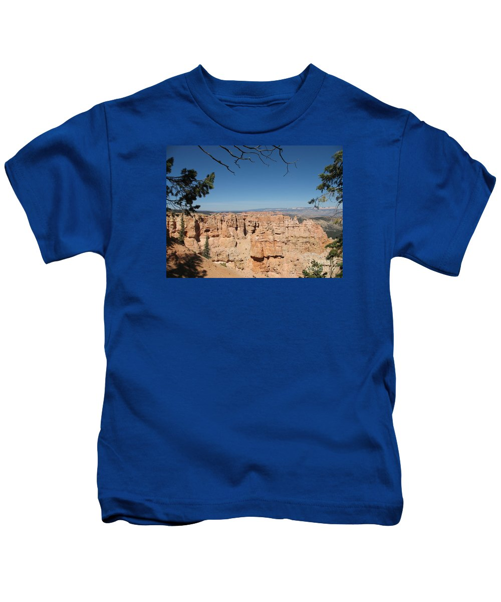 Mountains Kids T-Shirt featuring the photograph Viewpoint At Bryce Canyon by Christiane Schulze Art And Photography