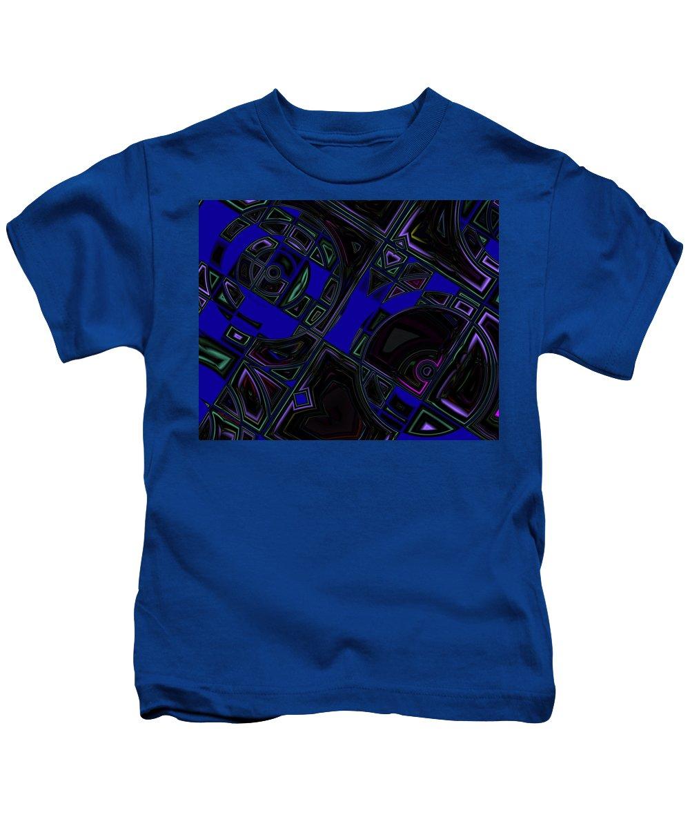 Vinyl Records Kids T-Shirt featuring the digital art Vinyl Blues by Judi Suni Hall
