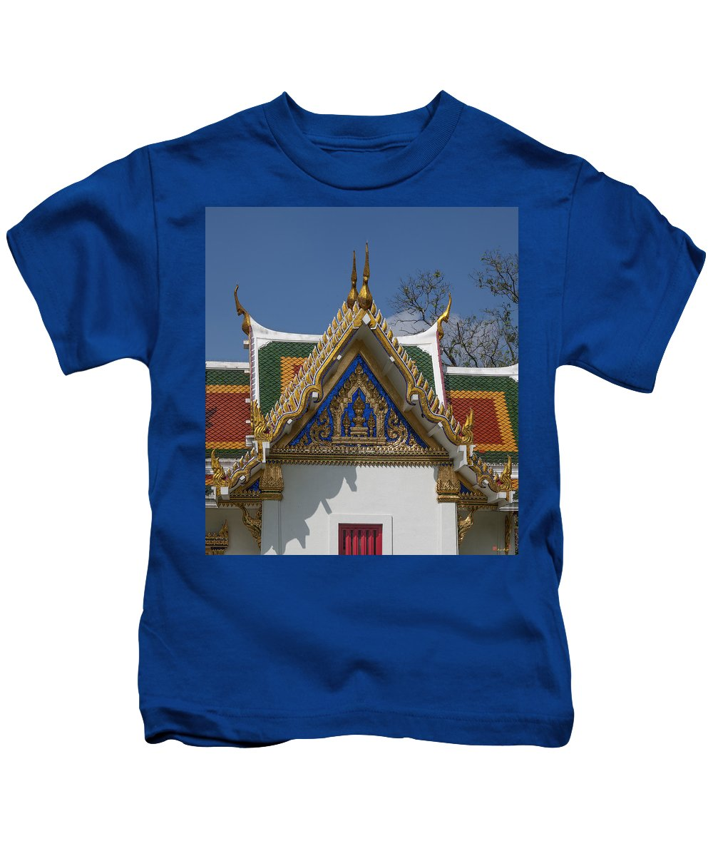 Bangkok Kids T-Shirt featuring the photograph Wat Phrasri Mahathat Ubosot North Wing Gable Dthb1469 by Gerry Gantt