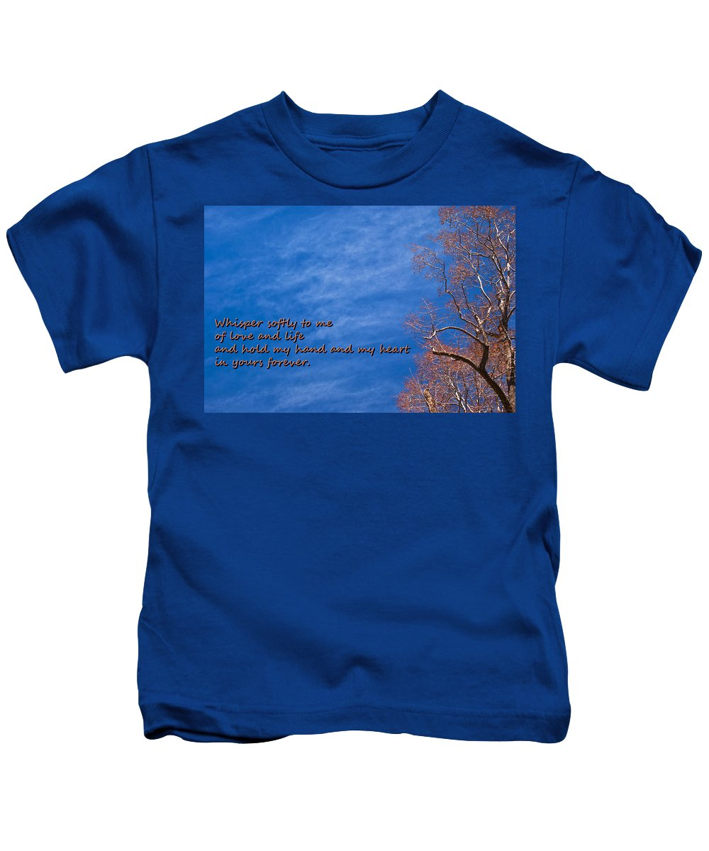 Tree Kids T-Shirt featuring the photograph Whisper Softly by Patrick Moore
