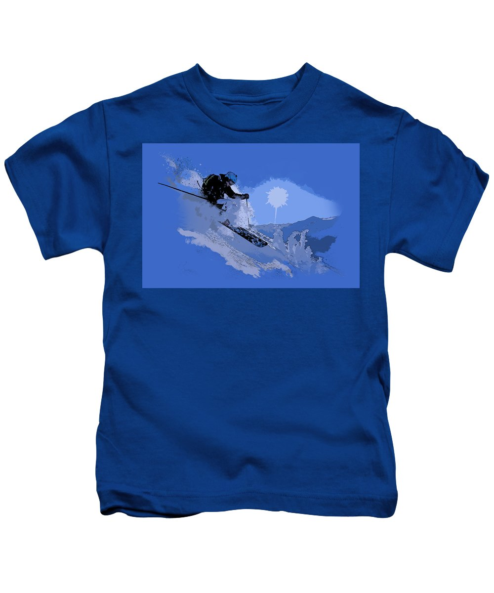 Vancouver Kids T-Shirt featuring the painting Whistler Art 005 by Catf