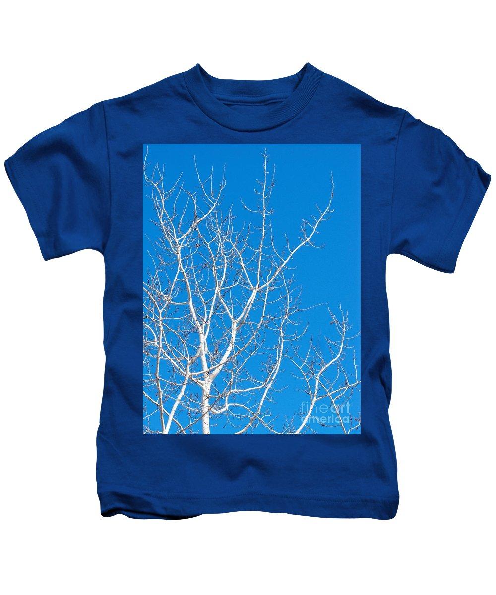 Winter Kids T-Shirt featuring the photograph Winter by Ann Horn