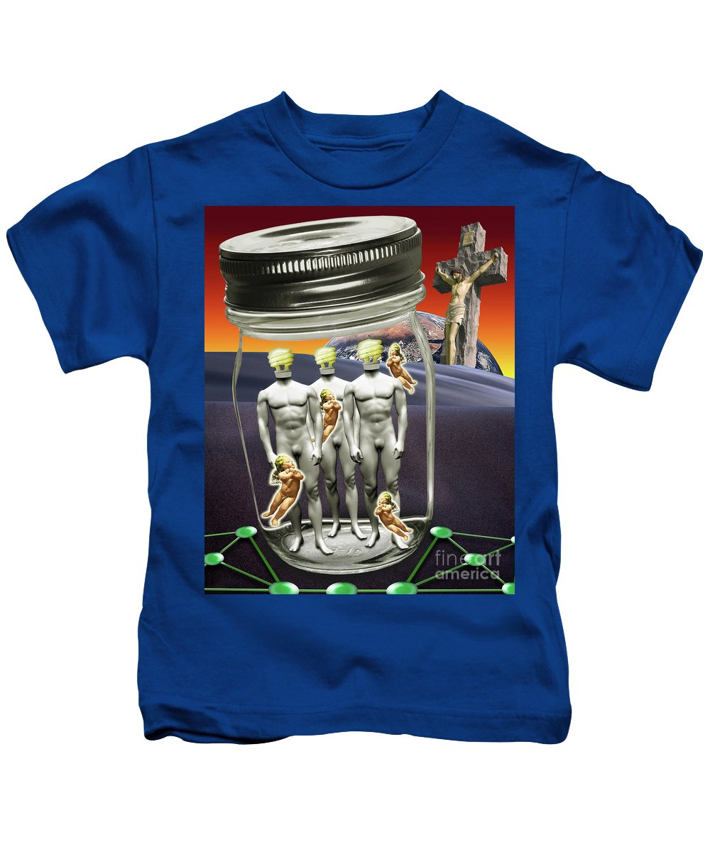 Technology Kids T-Shirt featuring the digital art Wise Men 2.0 2011 by Keith Dillon