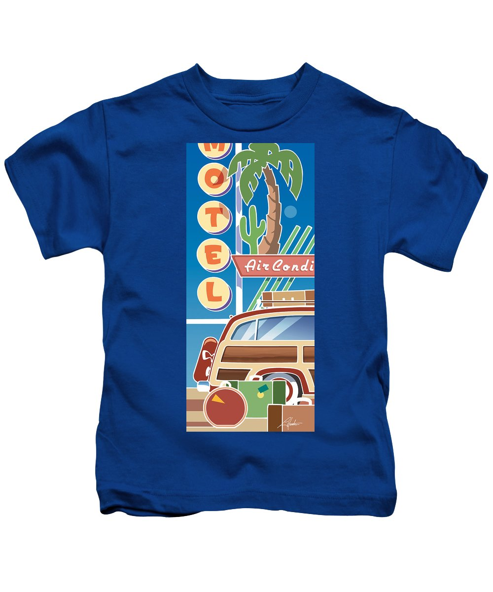 Mid Century Kids T-Shirt featuring the digital art Woody by Larry Hunter
