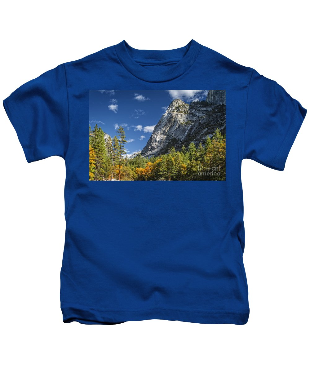 Yosemite Kids T-Shirt featuring the photograph Yosemite Valley Rocks by Dianne Phelps