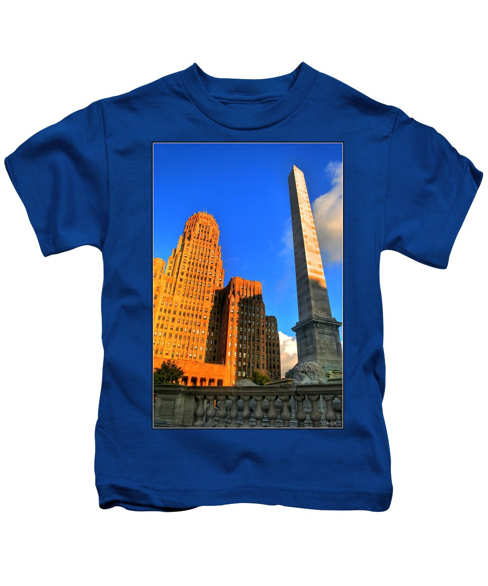 Kids T-Shirt featuring the photograph 002 Wakening Architectural Dynamics by Michael Frank Jr