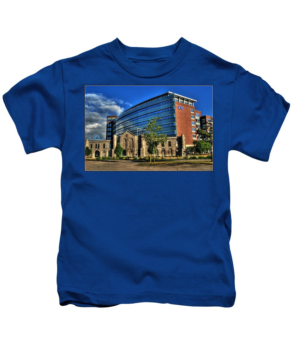 Kids T-Shirt featuring the photograph 017 Wakening Architectural Dynamics by Michael Frank Jr