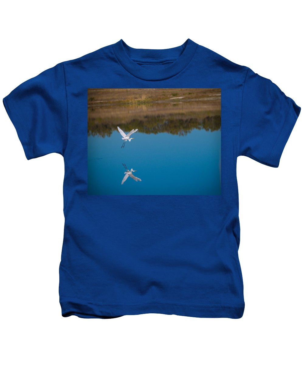 Fall Color Kids T-Shirt featuring the photograph Herron 5 by Sean Wray