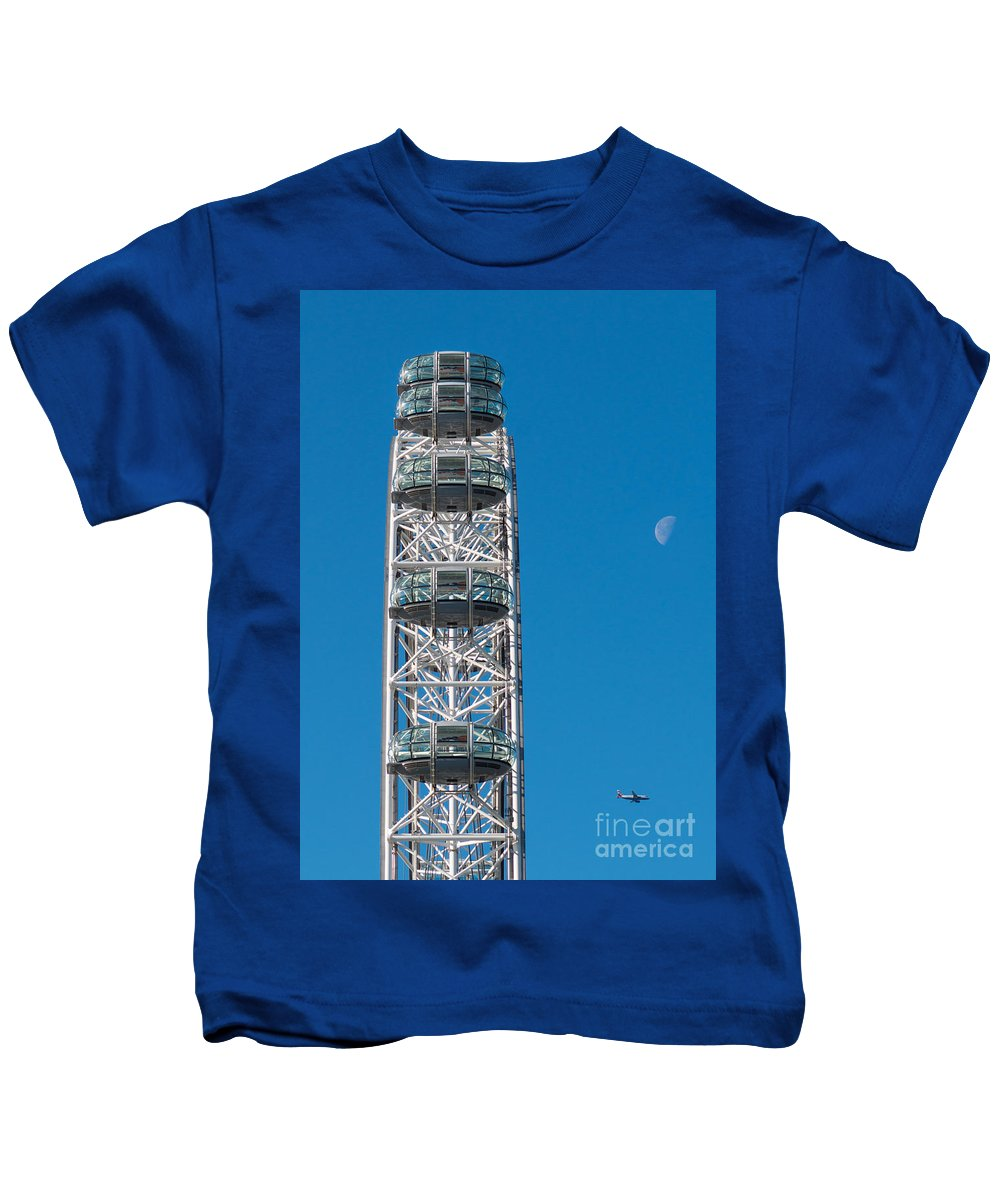 British Kids T-Shirt featuring the photograph London Eye by Andrew Michael