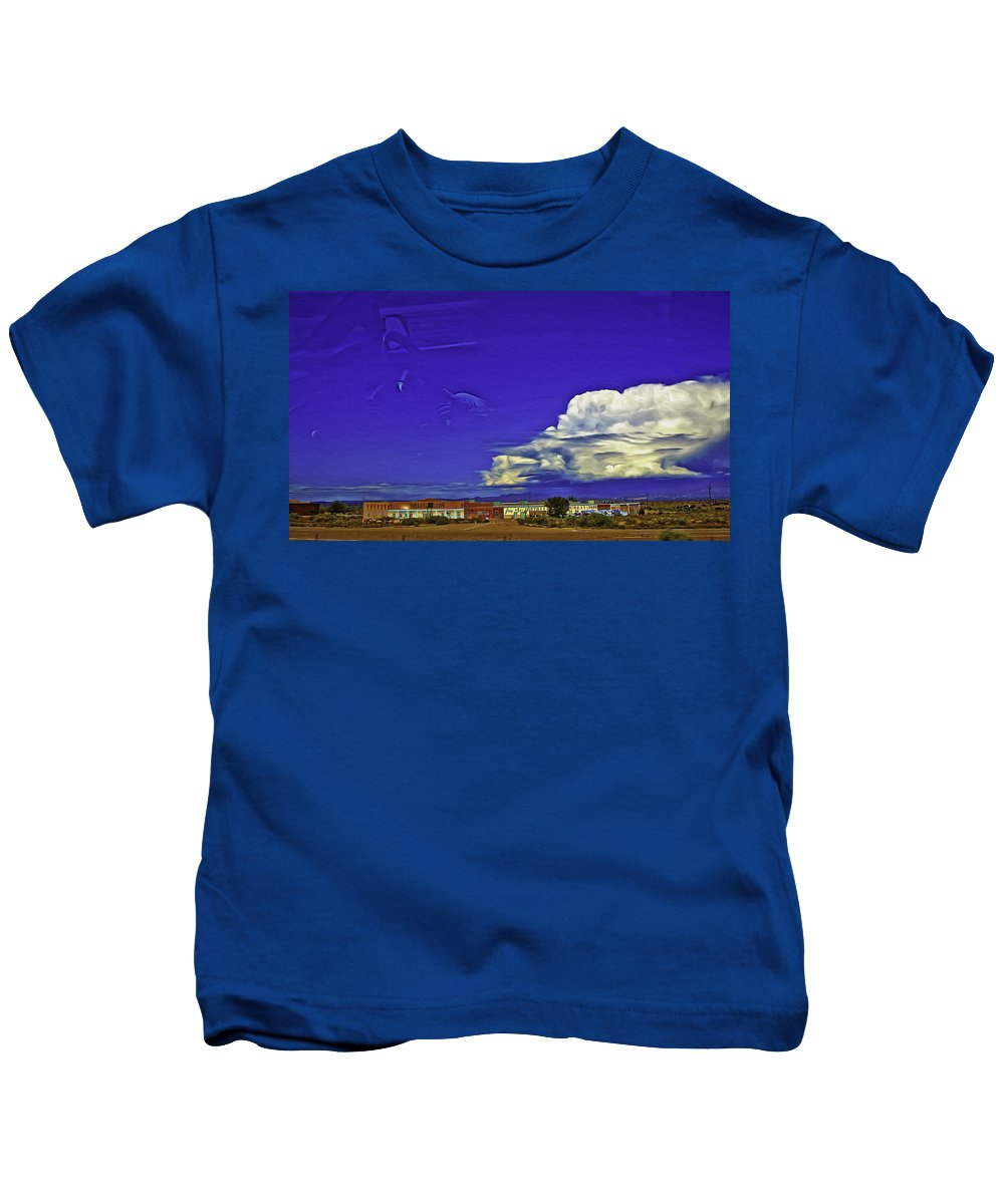 Santa Fe Kids T-Shirt featuring the photograph Santa Fe Drive - New Mexico by Madeline Ellis