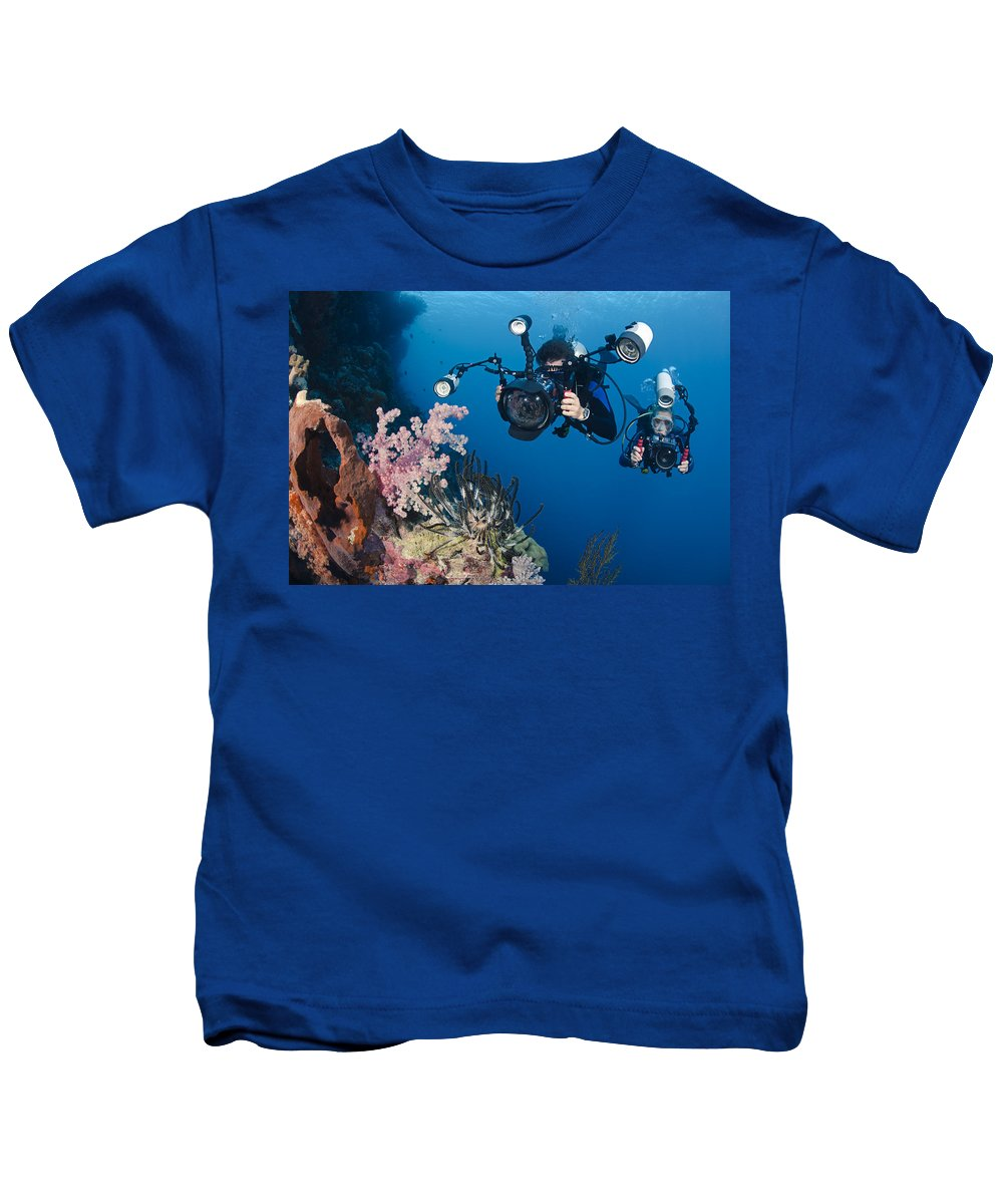 Active Kids T-Shirt featuring the photograph Underwater Photography by Dave Fleetham - Printscapes