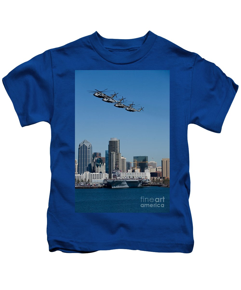 100th Anniversary Kids T-Shirt featuring the photograph 100th Anniversary Of Naval Aviation by Daniel Knighton