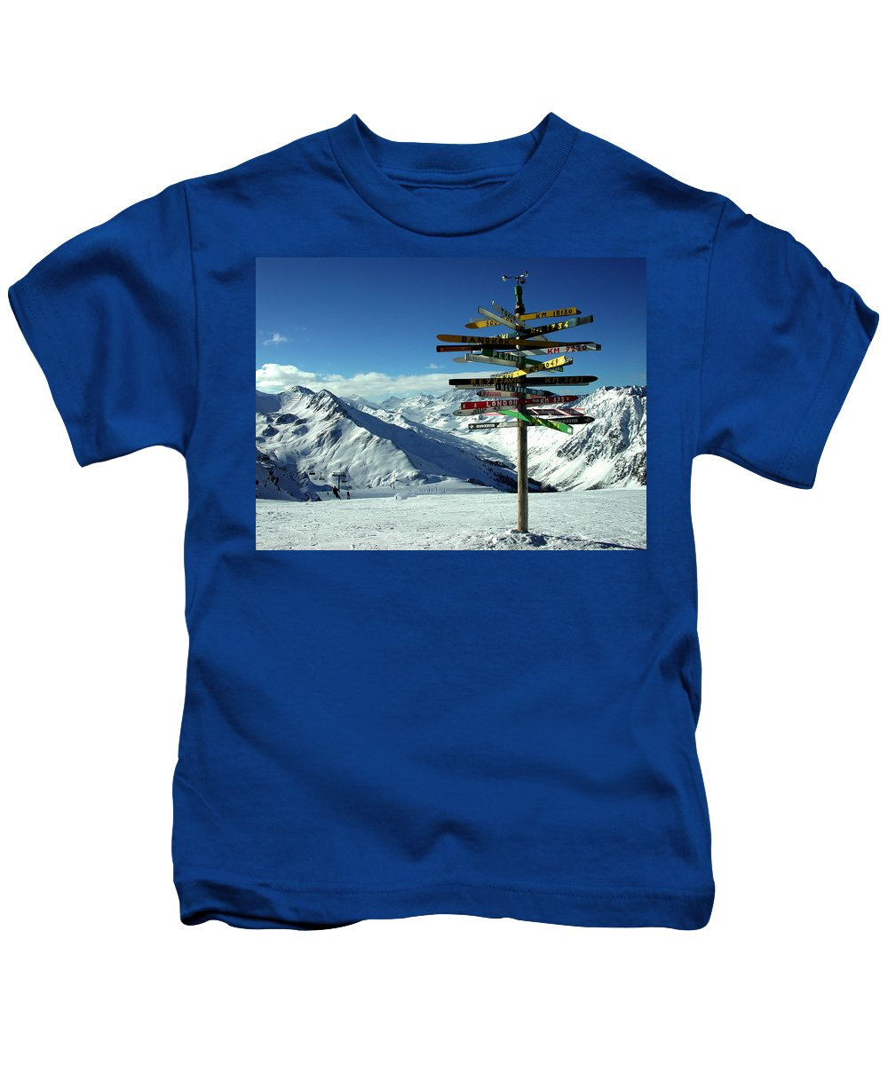 Colette Kids T-Shirt featuring the photograph Austria Mountain Road Show by Colette V Hera Guggenheim