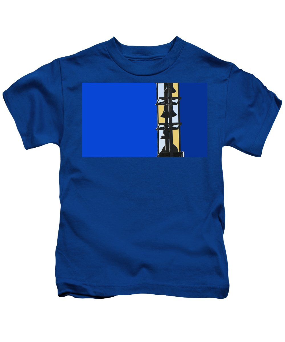 Abstract Kids T-Shirt featuring the photograph Bells 2 by Lenore Senior