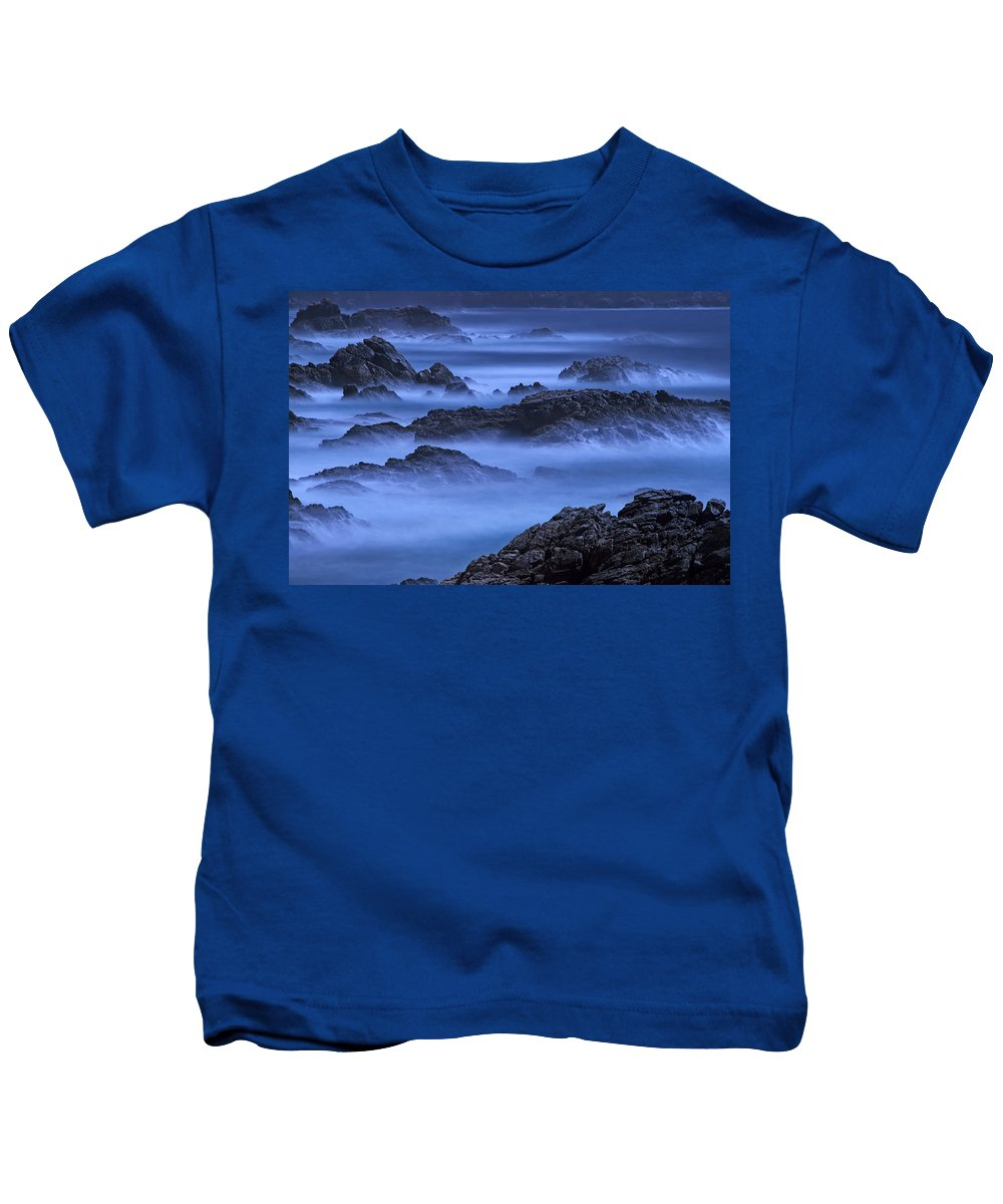 Big Sur Kids T-Shirt featuring the photograph Big Sur Mist by William Freebilly photography