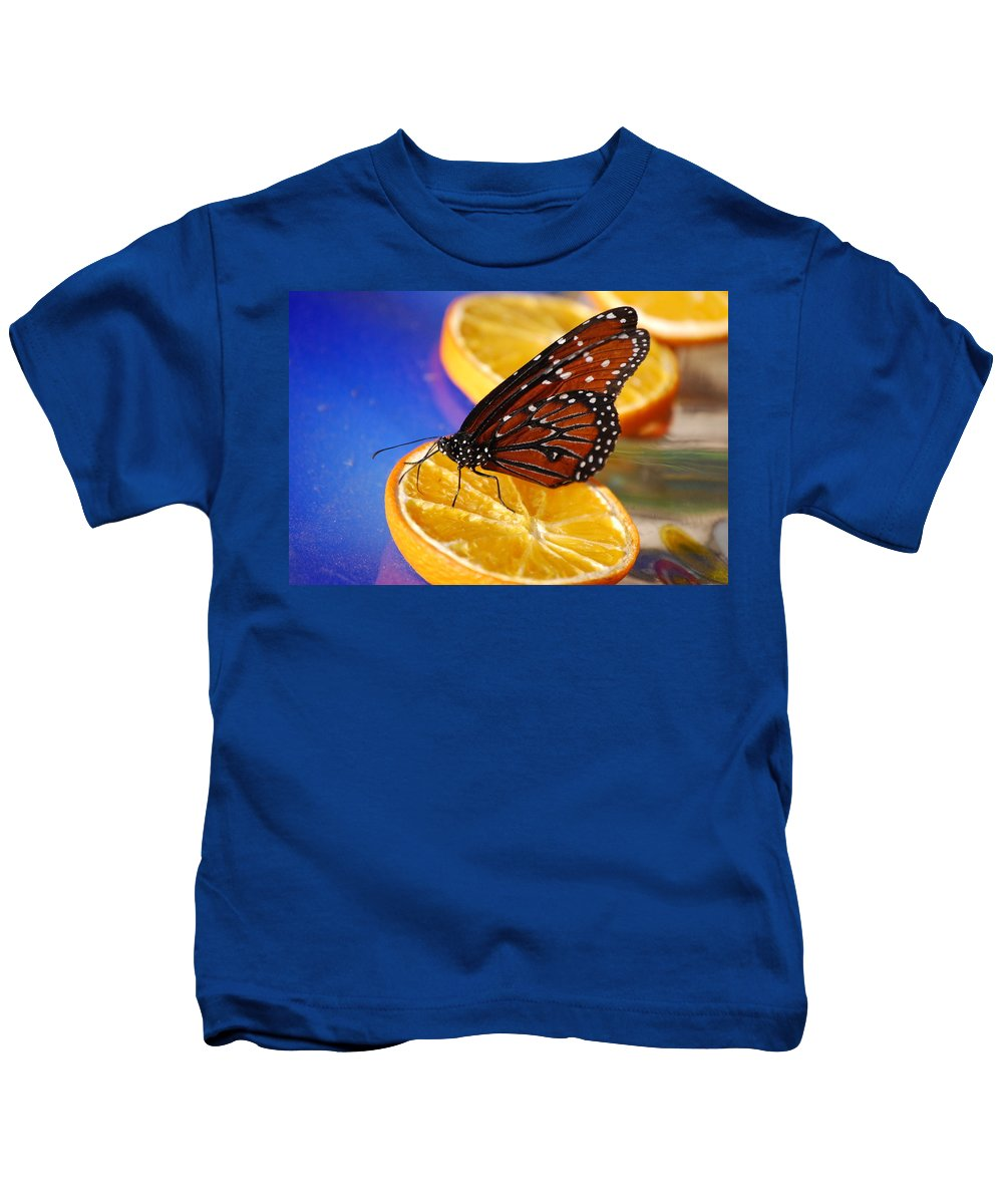 Butterfly Kids T-Shirt featuring the photograph Butterfly Nectar by Tam Ryan
