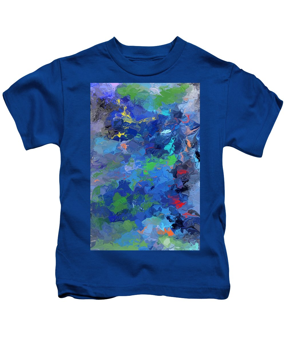 Fine Art Kids T-Shirt featuring the digital art Chaotic Nature by David Lane