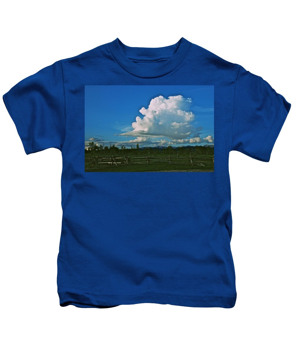 Clouds Kids T-Shirt featuring the photograph Clouds Over The North Forty by Eric Tressler