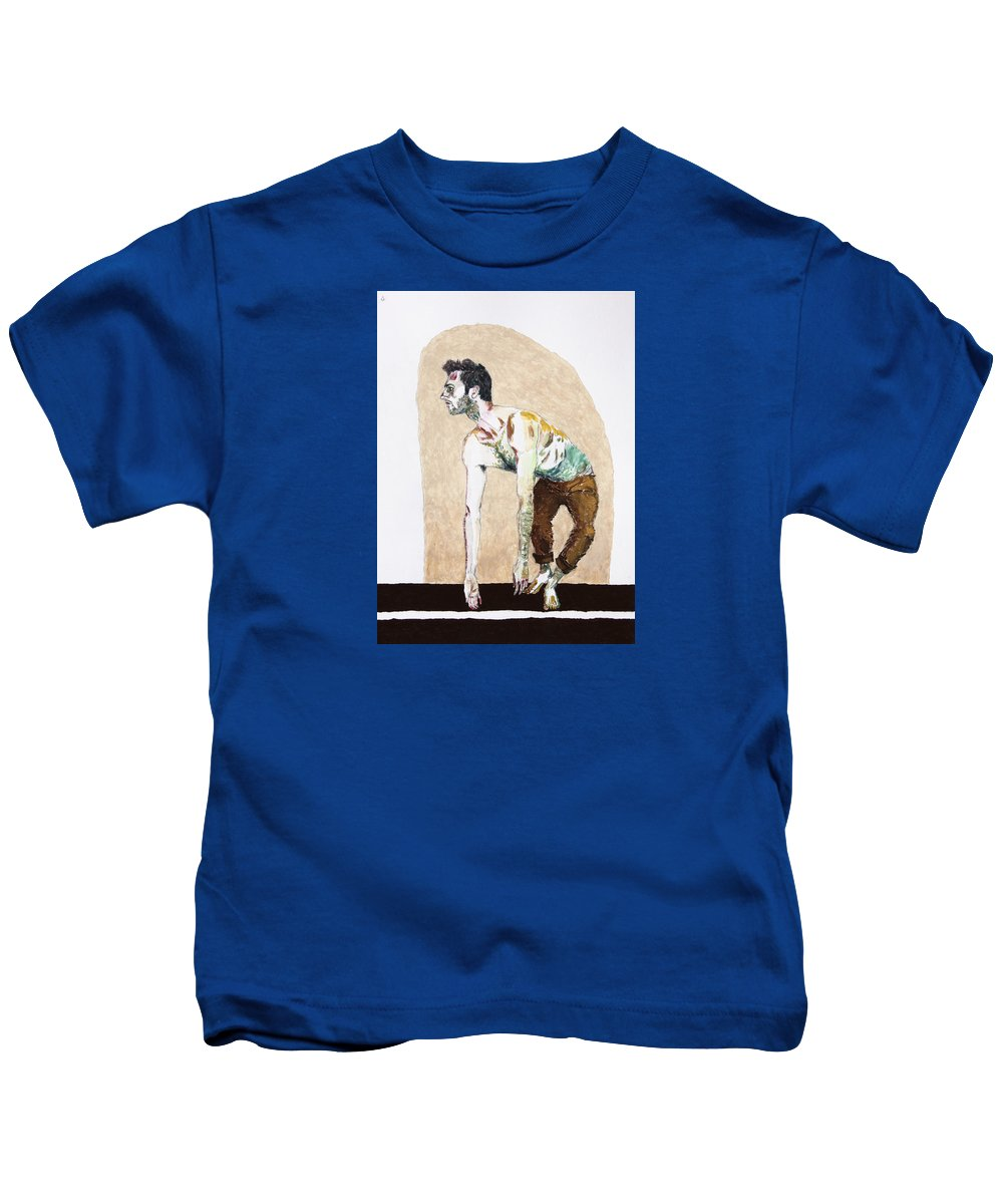 Creo Kids T-Shirt featuring the painting Creo by Seth Angle