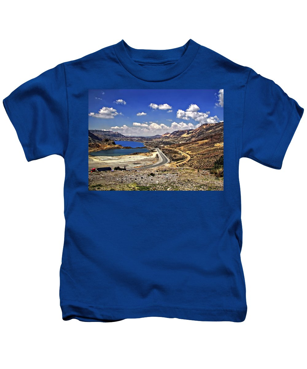 Peru Kids T-Shirt featuring the photograph Crossing The Andes 2 by Steve Harrington