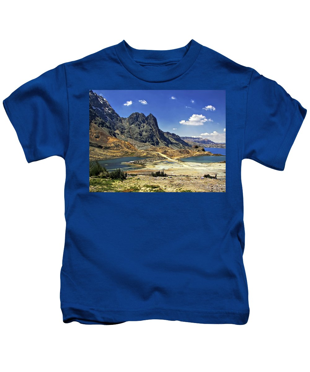 Peru Kids T-Shirt featuring the photograph Crossing The Andes by Steve Harrington