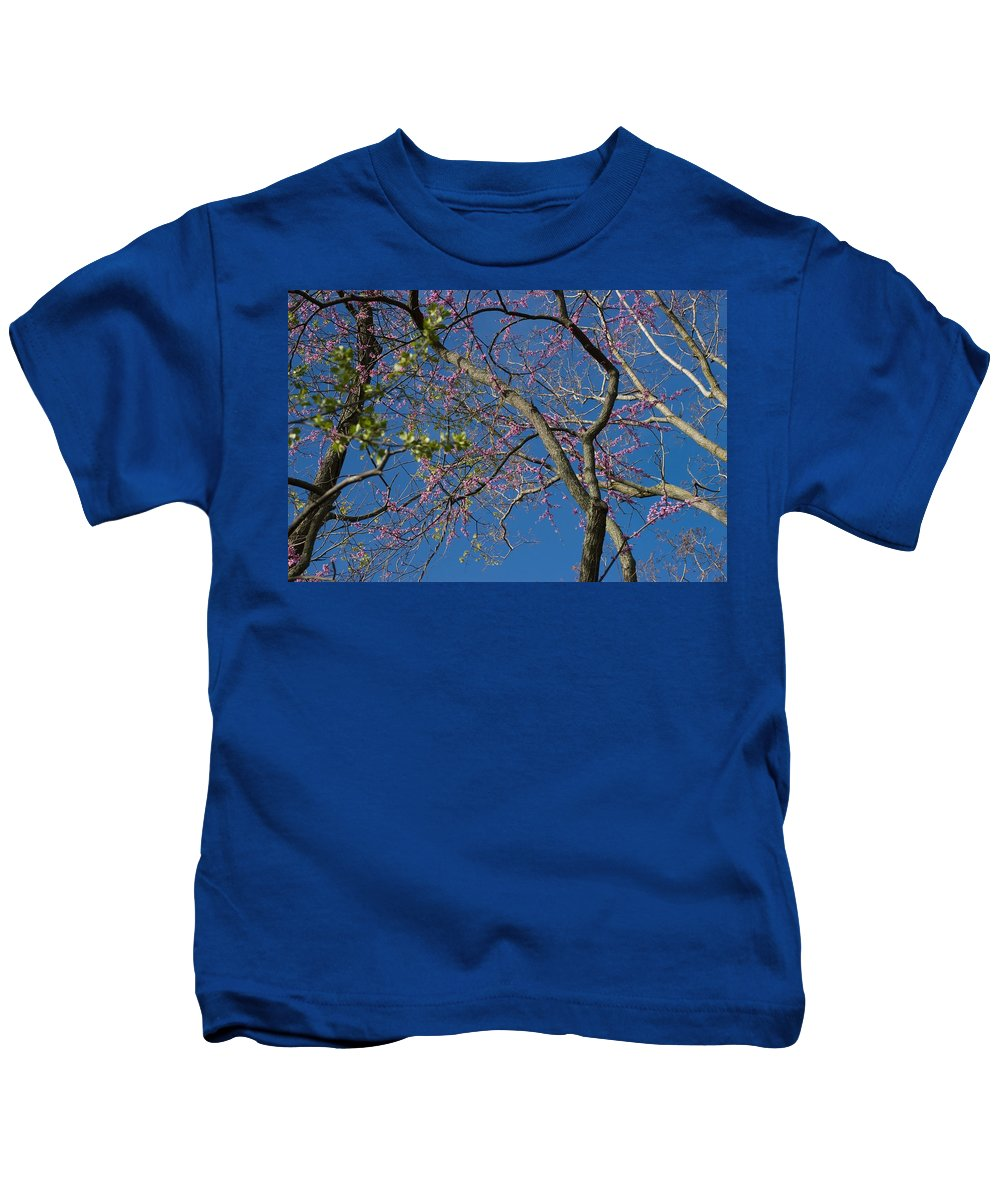 Lavender Blooms Kids T-Shirt featuring the photograph Entwining by Joseph Yarbrough