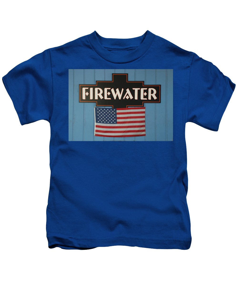 Fire Kids T-Shirt featuring the photograph Firewater by Rob Hans