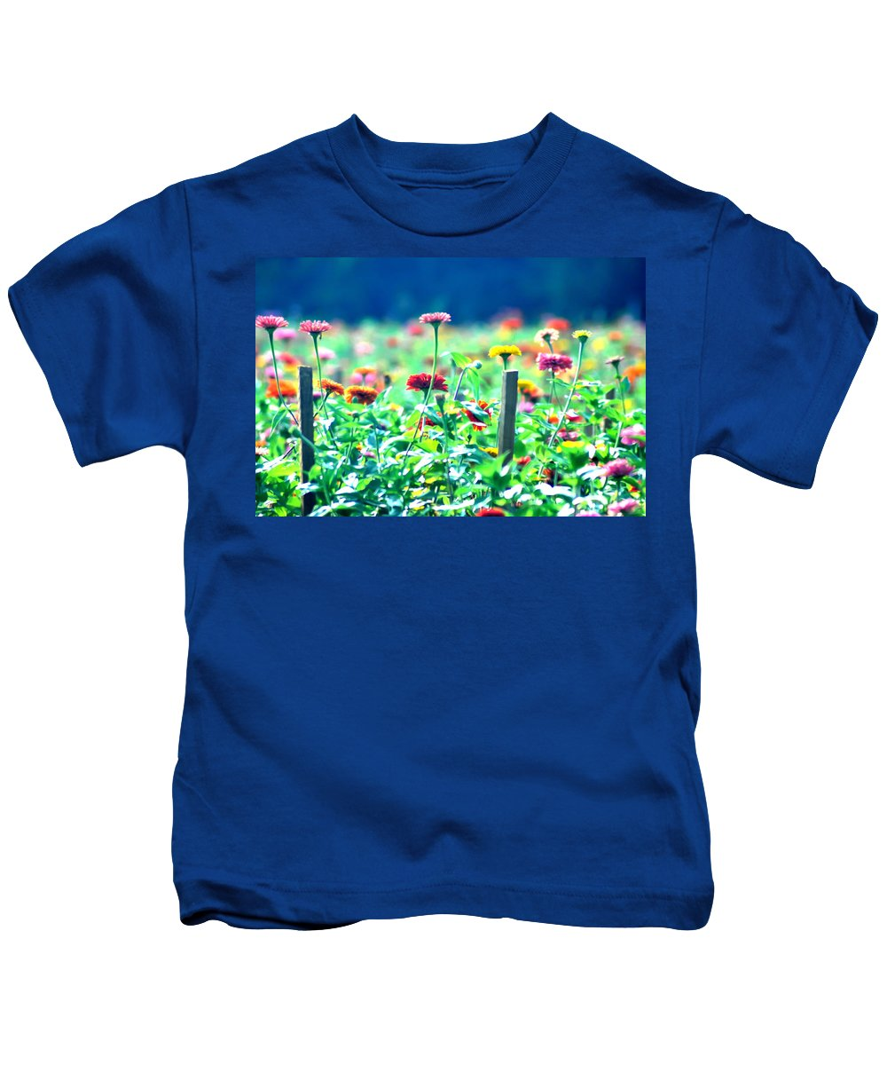 Flowers Kids T-Shirt featuring the photograph Flowers Everywhere by Bill Cannon