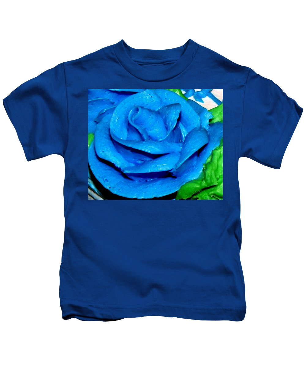 Rose Kids T-Shirt featuring the photograph Frosting Rose by Denise Keegan Frawley