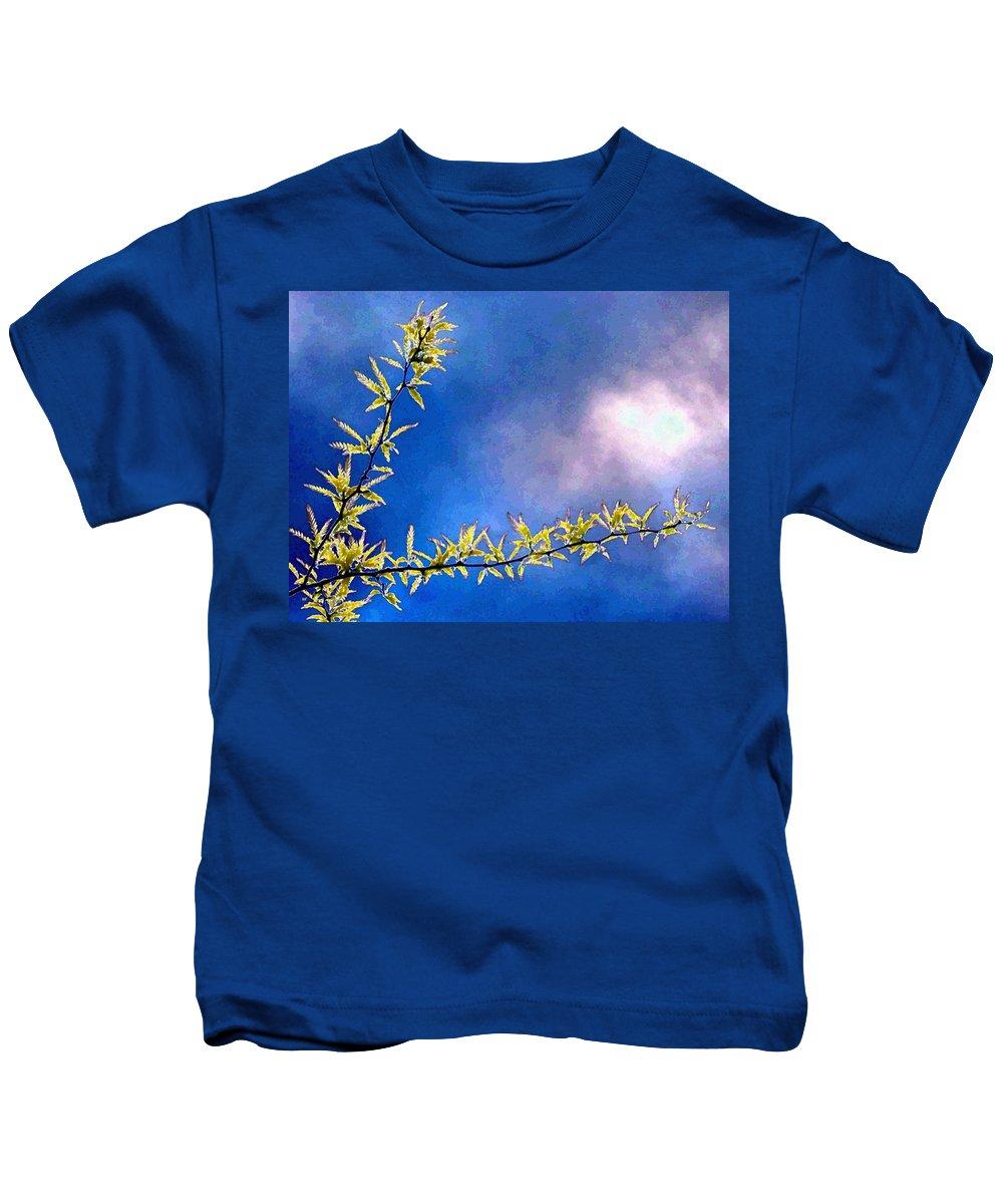 Golden Locust Kids T-Shirt featuring the digital art Golden Locust by Will Borden