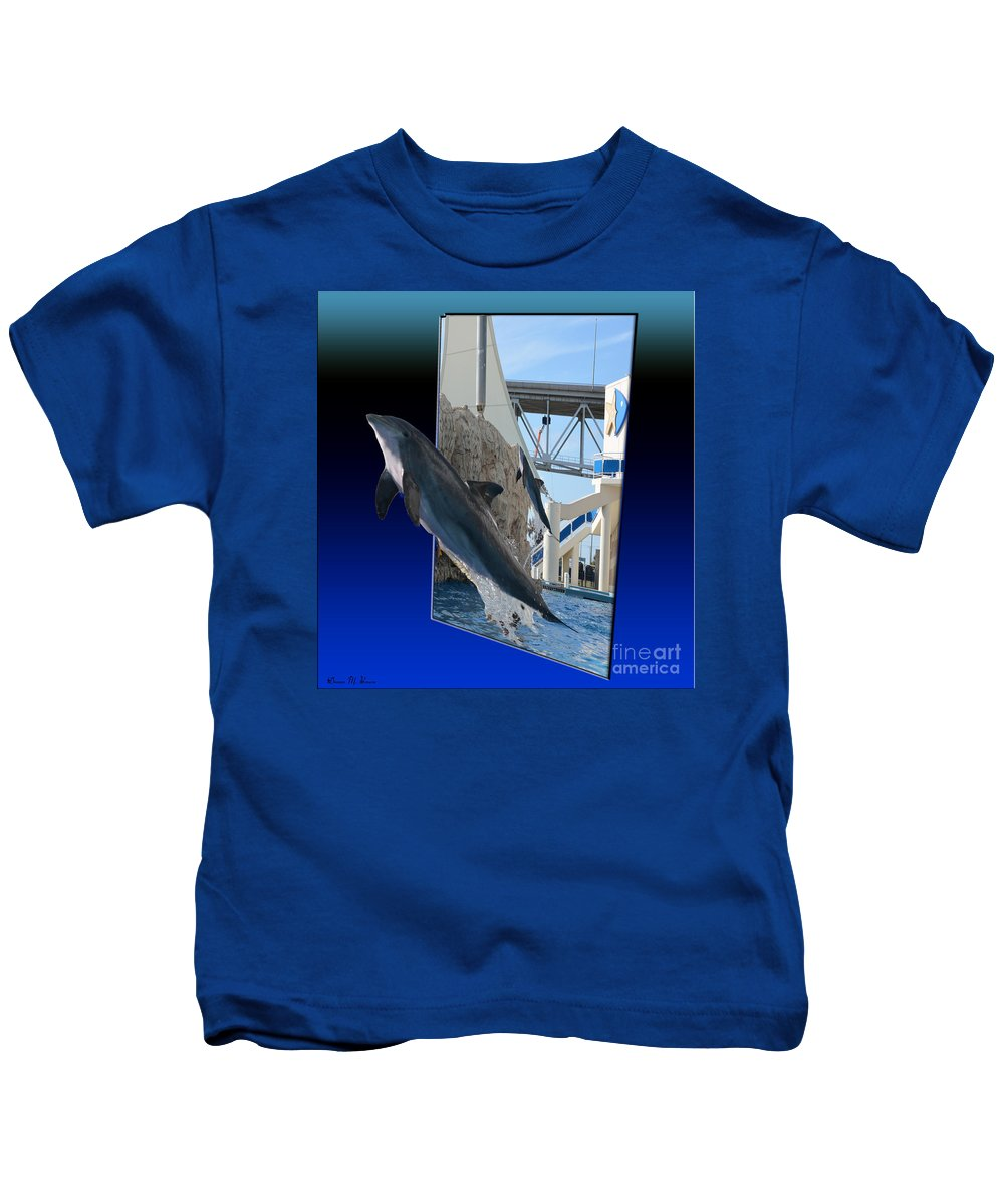 Manual Kids T-Shirt featuring the photograph Jumping For You by Donna Brown