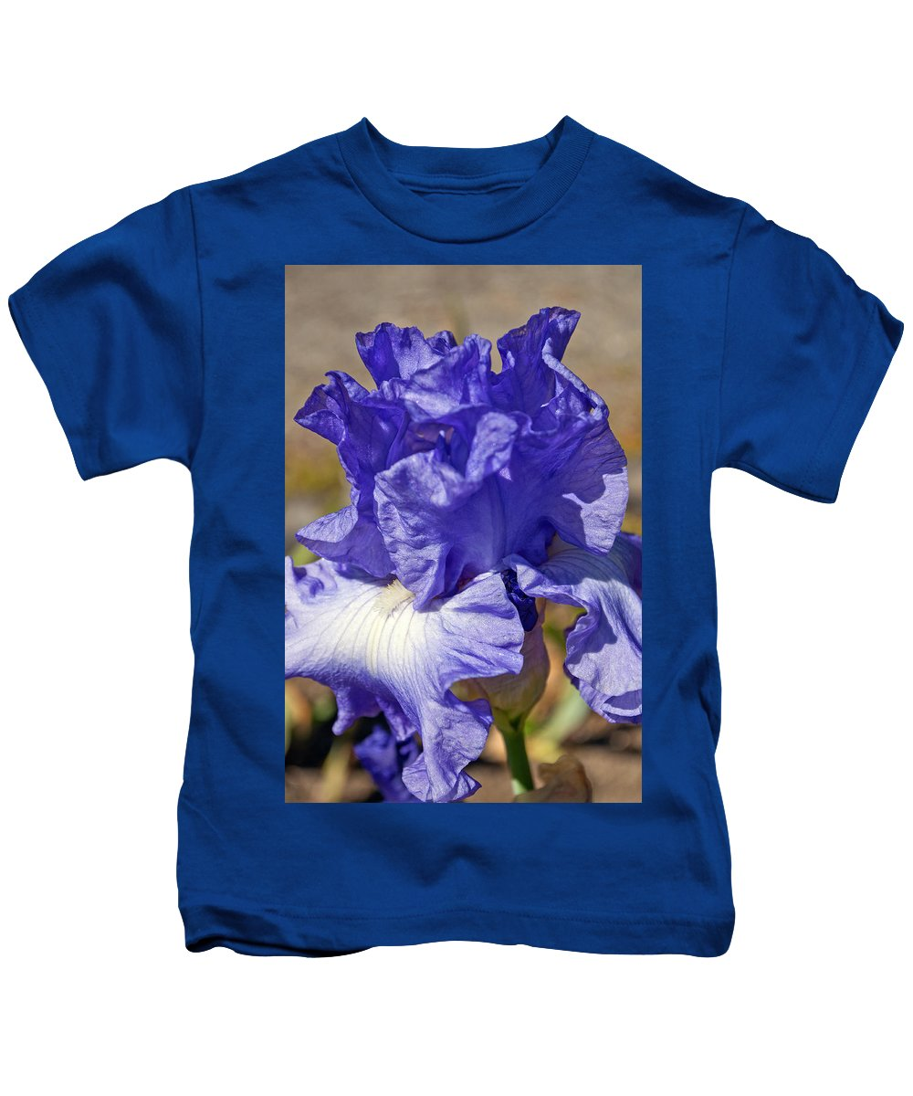 Flower Kids T-Shirt featuring the photograph lavender Iris by Tikvah's Hope