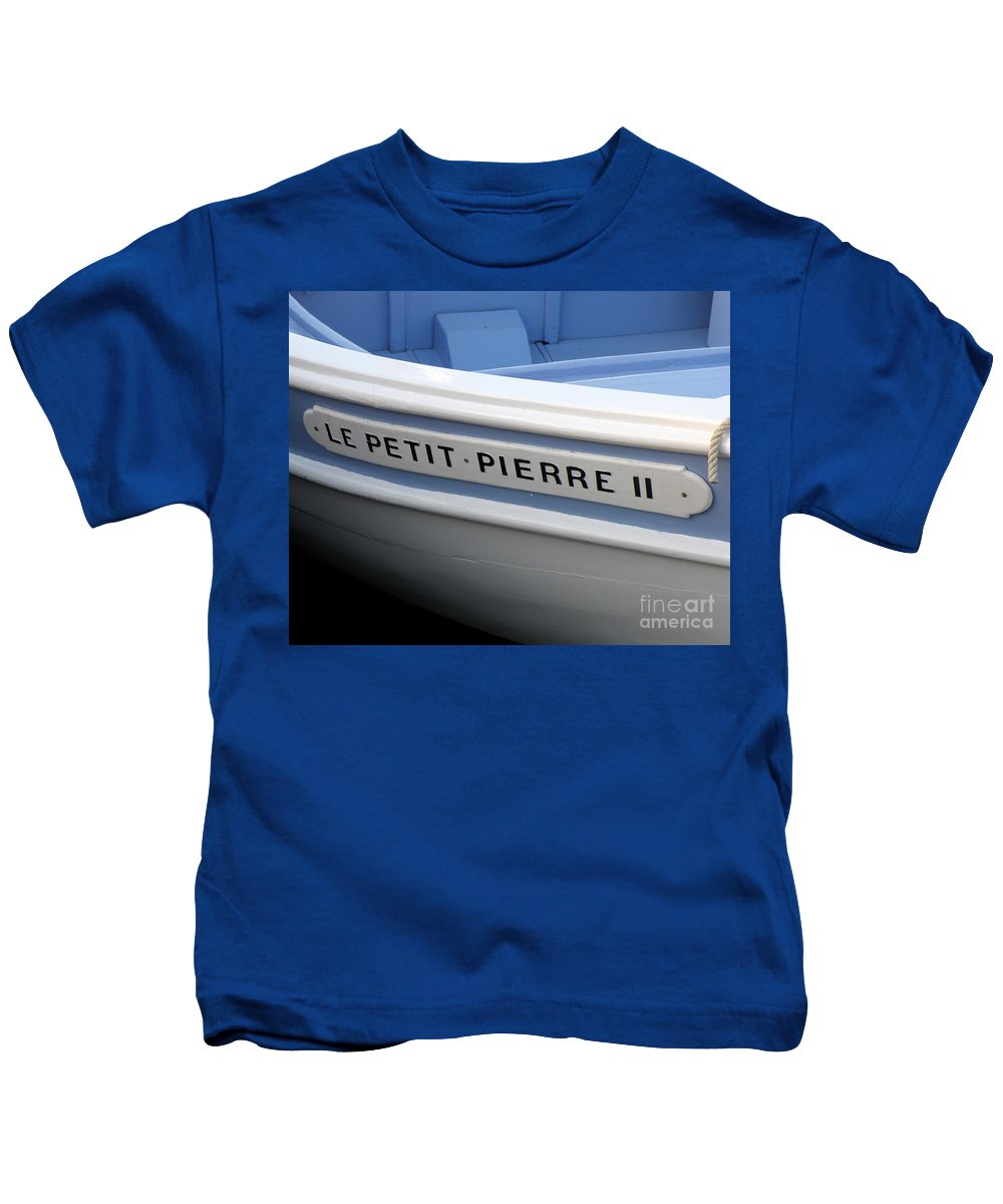 sail Boat Kids T-Shirt featuring the photograph Le Petit Pierre II by Lainie Wrightson