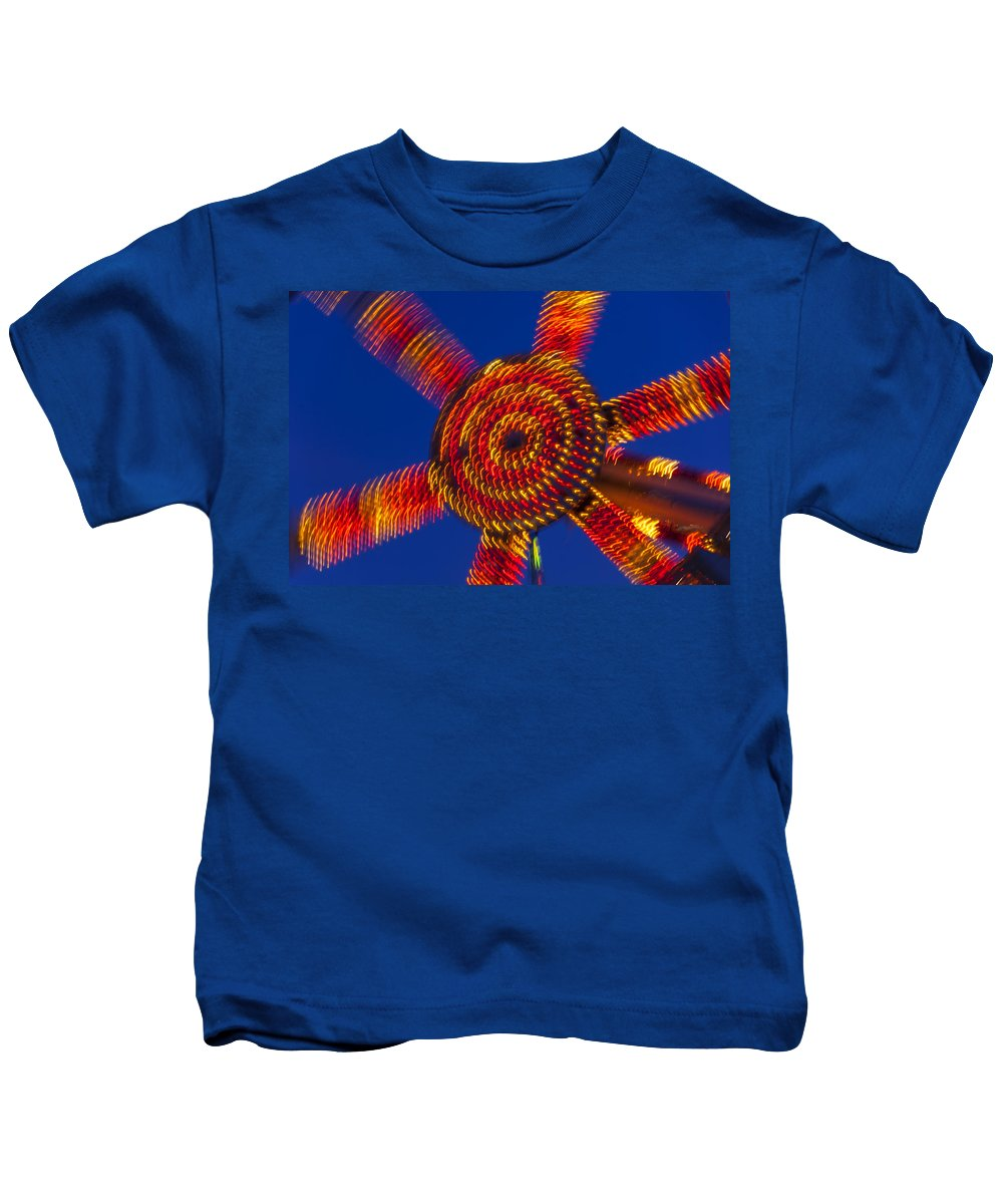 Carnival Kids T-Shirt featuring the photograph Light Dance by Garry Gay