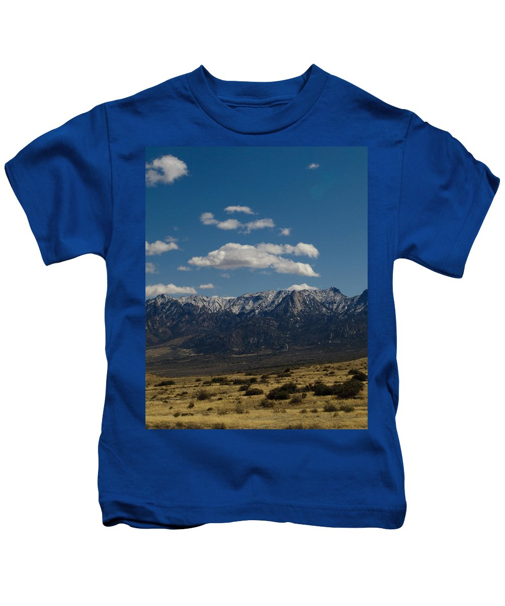 New Mexico Kids T-Shirt featuring the photograph Meadow And Mountains by Sean Wray