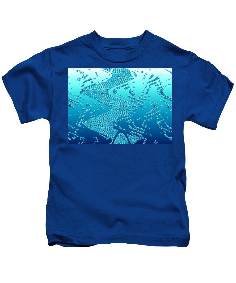 Moveonart! Global Gathering. Branch -- inaquadeep -- Digital Abstract Art By Artist Jacob Kane -- Omnetra Kids T-Shirt featuring the digital art Moveonart Inaquadeep by Jacob Kanduch