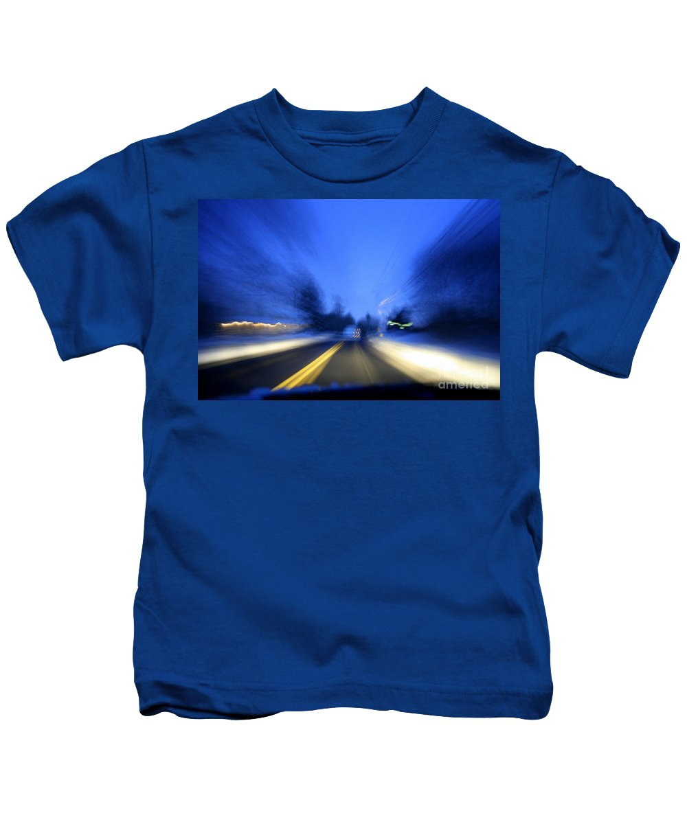 Abstract Kids T-Shirt featuring the photograph Outlaw by Neal Eslinger