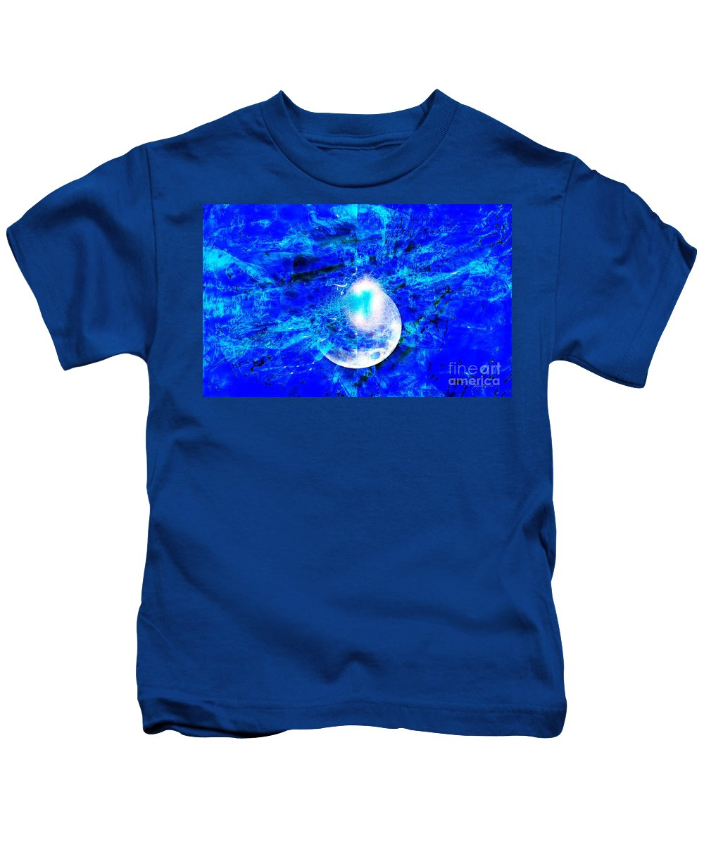 Fania Simon Kids T-Shirt featuring the digital art Prophecy - The Second Coming Of The Lord by Fania Simon