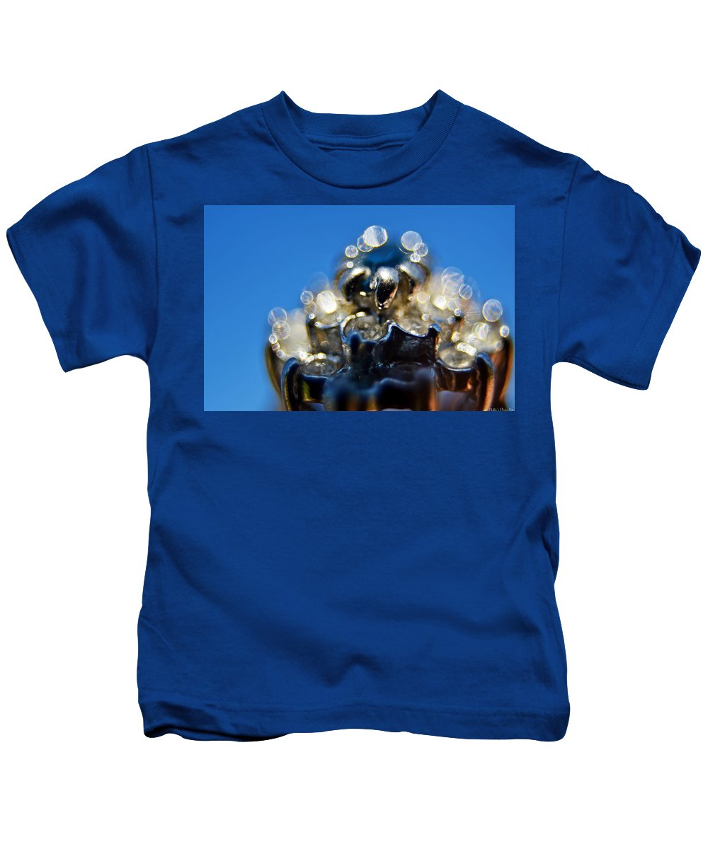 Still Life Kids T-Shirt featuring the photograph Saphire Sparkle II by Debbie Portwood