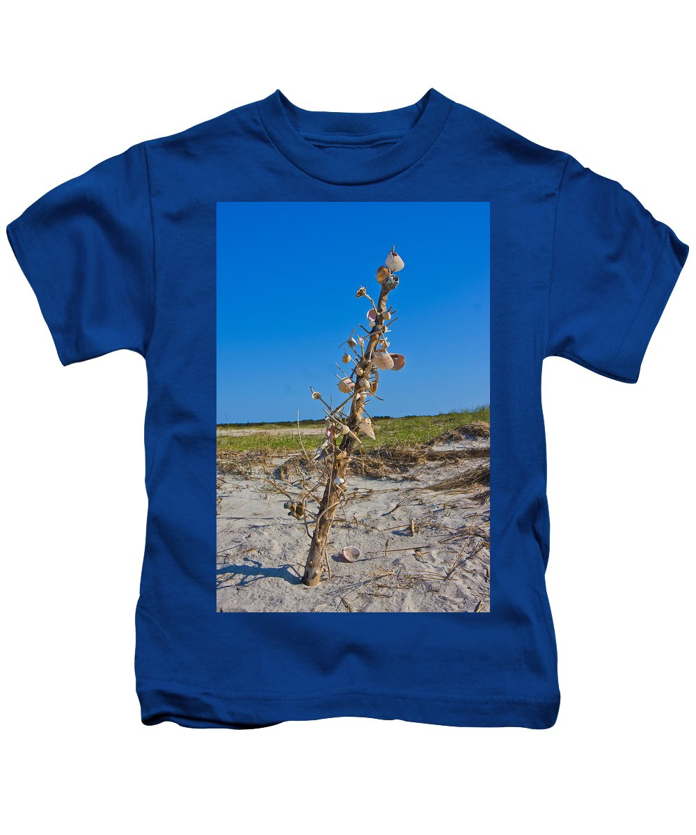 Shells Kids T-Shirt featuring the photograph Sos 5 by Betsy Knapp
